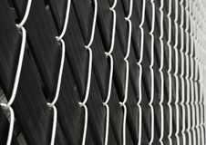 Imbedded cyclone fence Royalty Free Stock Photo