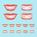 Imbiancando l'illustrazione di vettore dei denti sopra Immagini Stock