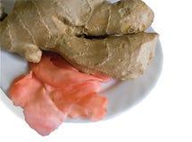 imbir marynujący korzeniowi plasterki Obraz Stock