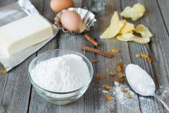 Imbir, masło i mąka, Zdjęcia Stock