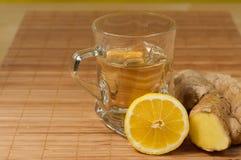 Imbirowa cytryny herbata Obrazy Stock
