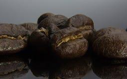 Imbirowa herbata z mennicą, kopii przestrzeń Zdjęcia Stock