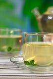 Imbirowa herbata z mennicą Obrazy Stock
