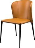 Imbirowego koloru biurowy rzemienny krzesło Nowożytny projektanta krzesło dla wnętrza Odizolowywający na bielu Zdjęcia Royalty Free