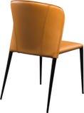 Imbirowego koloru biurowy rzemienny krzesło Nowożytny projektanta krzesło dla wnętrza Odizolowywający na bielu Fotografia Stock
