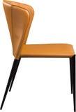 Imbirowego koloru biurowy rzemienny krzesło Nowożytny projektanta krzesło dla wnętrza Odizolowywający na bielu Obraz Royalty Free
