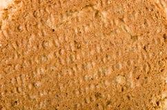 Imbirowy dokrętek ciastek tło, zakończenie na tylnej stronie Obrazy Stock