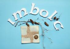 Imbolc图片 Brigid ` s十字架 五角星形 免版税图库摄影