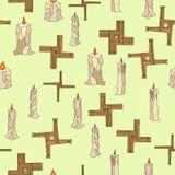 Imbolc άνευ ραφής με τα κεριά και brigid το σταυρό ελεύθερη απεικόνιση δικαιώματος