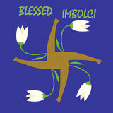 Imbolc greeting card Stock Photos
