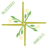 Imbolc greeting card Stock Images