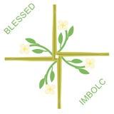 Imbolc greeting card Stock Images