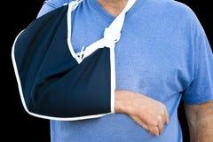 Imbracatura del braccio del panno Immagine Stock