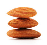 Imbricate almonds with clipping path Stock Photos