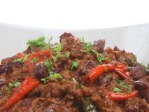 Imbroglione Carne dei peperoncini rossi Fotografia Stock