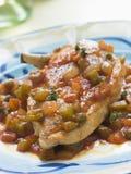 Imbroglione Cervaza di Cervaza- Pollo del pollo Fotografie Stock