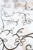 Imbroidery on the wedding dress Royalty Free Stock Image