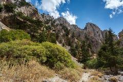 Imbros gorge. Crete. Greece. Royalty Free Stock Images