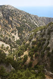Imbros Gorge and Mediterranean sea in Crete. Greece Stock Photography