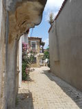 Imbros narrow stony paths Royalty Free Stock Image