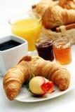 Imburri il croissant fotografia stock