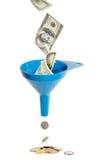 Imbuto e valuta Fotografie Stock Libere da Diritti