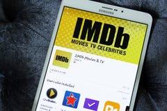 Imdb app Royalty Free Stock Photo