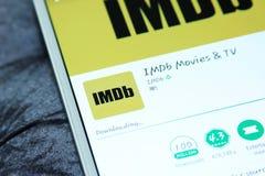 Imdb app móvel Imagens de Stock