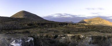 Ime ¼ El Barranco de Tenegà к ноча Стоковое Изображение