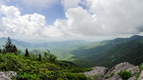 Time Lapse Devils Courthouse Blue Ridge Parkway stock video footage