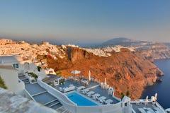 Imerovigli и Fira Santorini, острова Кикладов Греция Стоковая Фотография RF