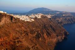 Imerovigli и Fira Santorini, острова Кикладов Греция Стоковые Фото