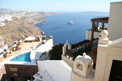 Imerovigli hotel, Santorini Stock Photo
