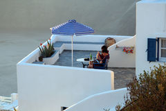 Imerovigli hotel, Santorini Stock Photos