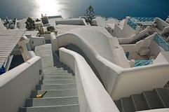 Imerovigli przy zmierzchem, Santorini, Grecja Fotografia Royalty Free
