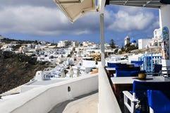 Imerovigli, Santorini, Греция Стоковое Изображение RF