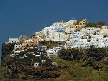 Imerovigli in Santorini Stock Afbeelding
