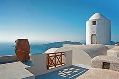 Imerovigli, Santorini, Grèce Image stock