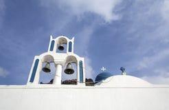Imerovigli, Santorini, Grécia - 22 de outubro de 2014: Rocha de Skaros Opinião do Caldera - Immagine foto de stock