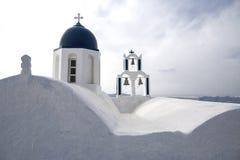 Imerovigli, Santorini, Gr?cia - 22 de outubro de 2014: Rocha de Skaros Opini?o do Caldera - Immagine fotografia de stock royalty free