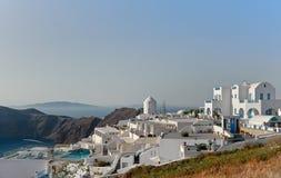 Imerovigli, Santorini, Griekenland Stock Fotografie