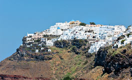 Imerovigli on Santorini Island Royalty Free Stock Photo