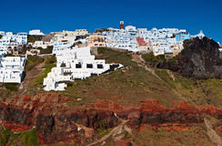 Imerovigli village at Santorini island, Greece Stock Photo