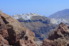 Imerovigli village on Santorini Royalty Free Stock Photos