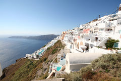 Imerovigli village, Santorini Stock Photos