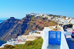 Imerovigli village view Santorini Cyclades Greece Royalty Free Stock Images