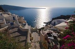 Imerovigli y mar - Santorini Fotos de archivo libres de regalías
