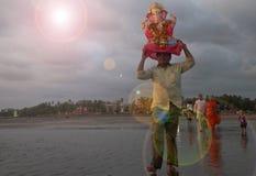 Imersão de Ganesh Fotos de Stock Royalty Free