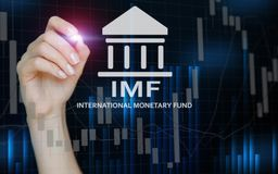 IMF. International Monetary Fund. Finance and banking concept.  royalty free stock images