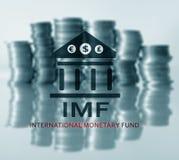 IMF Międzynarodowy fundusz monetarny Finanse i bankowości pojęcie zdjęcia stock